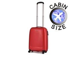 Mała walizka PUCCINI ABS01 Barcelona czerwona
