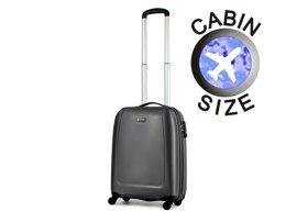 Mała walizka PUCCINI ABS01 C szara antracyt