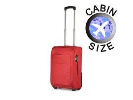 Mała walizka PUCCINI EM-50307 Camerino czerwona