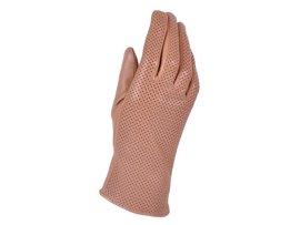 Rękawiczki damskie PUCCINI D-1550 jasno brązowe kropeczki
