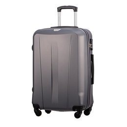 Średnia walizka PUCCINI ABS03 Paris szary antracyt