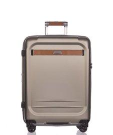 Średnia walizka PUCCINI PC020 Stockholm złota
