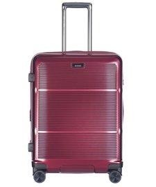 Średnia walizka PUCCINI PC021 Vienna bordowa