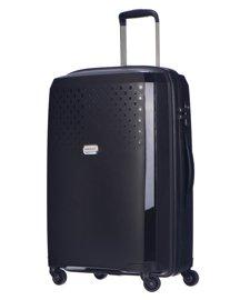 Średnia walizka PUCCINI PP010 Havana czarna