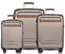 Zestaw trzech walizek PUCCINI PC020 Stockholm złoty