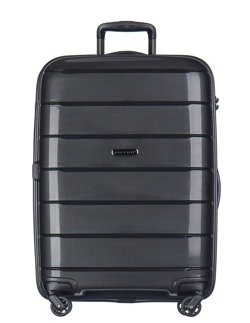 Duża walizka PUCCINI PP013 Madagaskar czarna