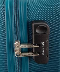 Mała walizka PUCCINI ABS03 Paris ciemnozielona