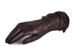 Rękawiczki damskie PUCCINI D-1004 ciemny brąz