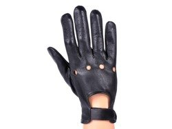 Rękawiczki męskie PUCCINI M-106 krótkie czarne