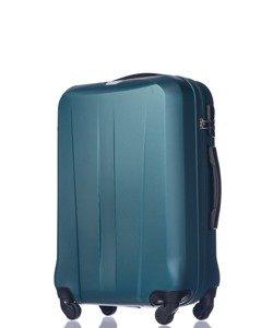 Średnia walizka PUCCINI ABS03 Paris ciemnozielona