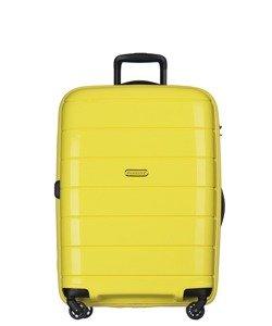 Średnia walizka PUCCINI PP013 Madagaskar żółta