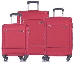 Zestaw trzech walizek PUCCINI EM-50720 Parma czerwony
